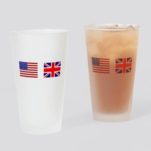 USA & Union Jack Drinking Glass
